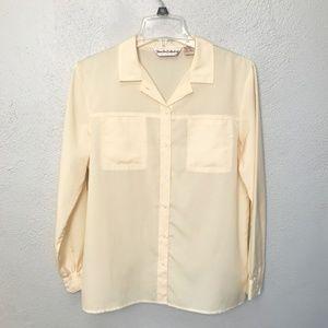 Diane Von Furstenberg Button Long Sleeve Blouse